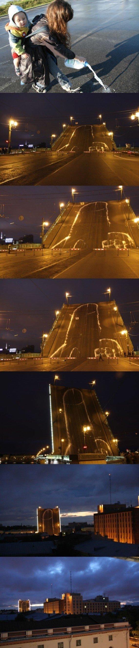 The Penis Rises. .. The security guard when the bridge rises. nhk