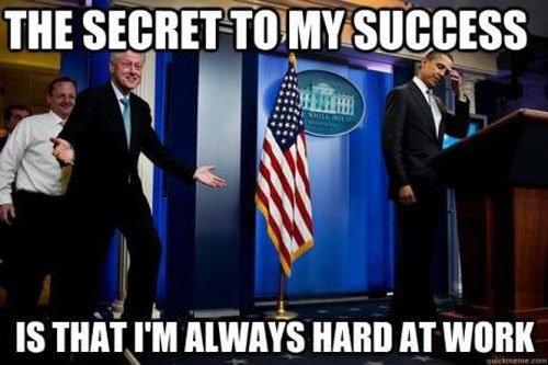 The Secret to success. . Clinton