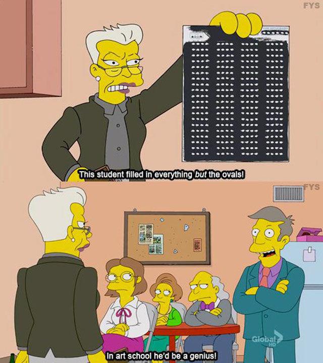The Simpsons. .. well, I wouldn't understand this kind of art, so it'd porbably be modern art. asdasdasdasdas