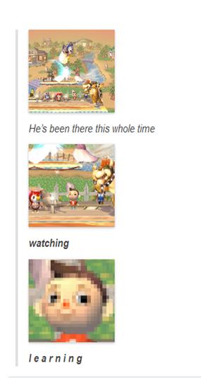 The villager. The Villager meme.... learning Villager meme animal crossing super smash bros