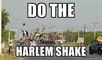 The Worst Harlem Shake. Suddenly. . . Harlem Shake. harlem Shake car bicycle Crash