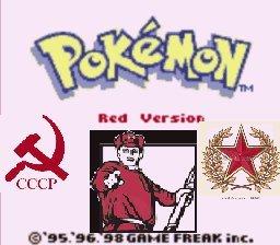 "The real Pokemon red. yope. III ""aela"" db. usrs re i t tite U' iial Bhg I i' Pokemon red commies CCCP"