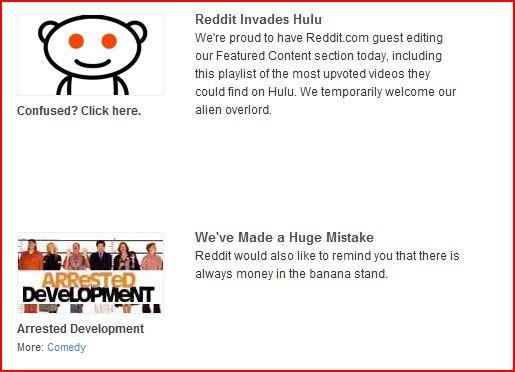 The Apocalypse. Reddit. fags take over hulu