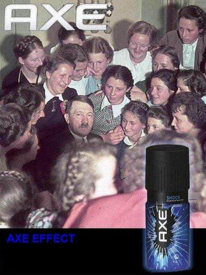 the axe effect. lol. axe effect