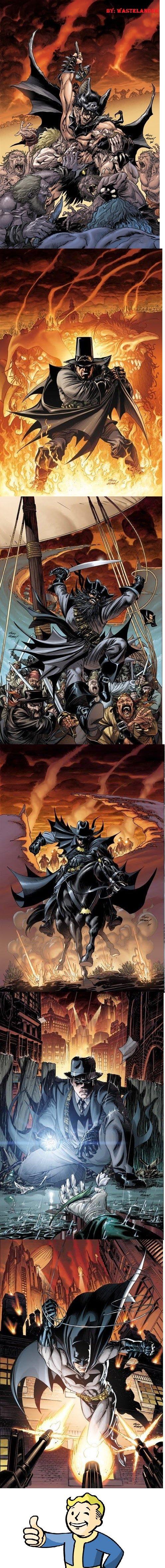 The Evolution of Batman. You've heard of human evolution, maybe even the evolution of dance, but now look at this... REPOST the evolution of batman throughout history epic change superhero