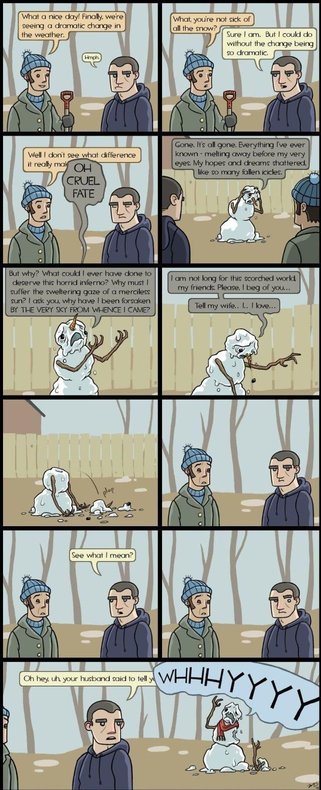 "them feels. . 1 ""rlrl' change in withc: u' r the chn: beein; snowman"