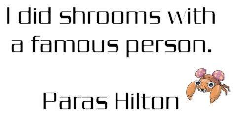 Then some Grass. . I did id famous person. Paras Hilton H 'N Paras Grass Bug paris hilton shrooms Mushrooms Pokemon jokes puns