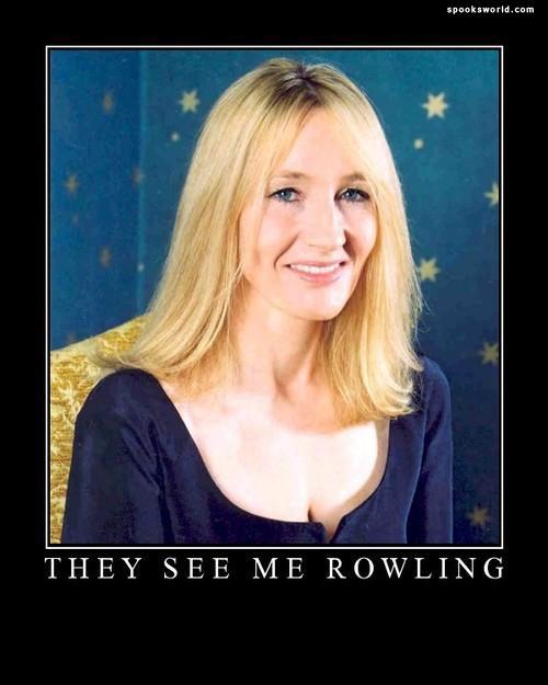 They hatin'. you like you lol.. ...Im hating. jk rowling Harry Potter demotivator