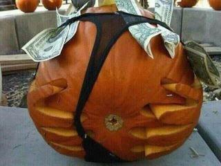 Thong Pumpkin. . Pumpkin thong Halloween funny Fall