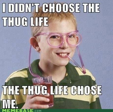 Thug life. found on the interwebs today.. NO sup bro