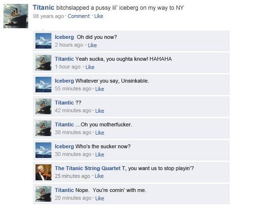 Titanic. thumb pls. nic an pussy lil' iceberg an my way to NY SE years ago ' Comment . Like luminary i: ihi: id yum] mar? 2 hours ago . Like fagan sum, gnu nigh thumb if u liek