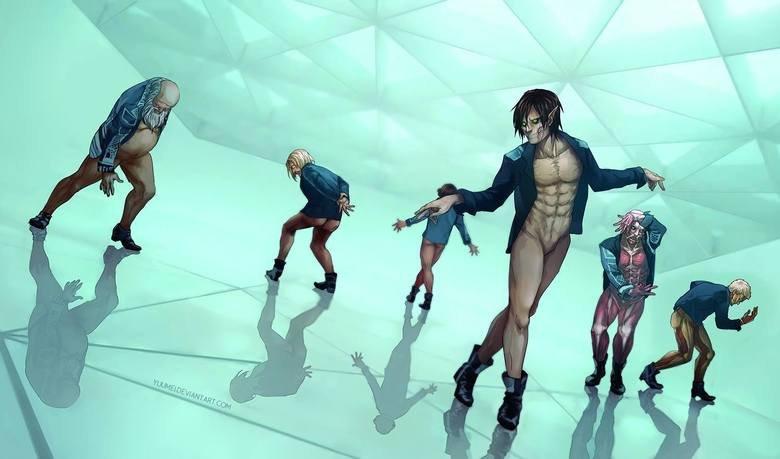 Titans on the dance floor. Art by yuumei . Titans on the dance floor Art by yuumei