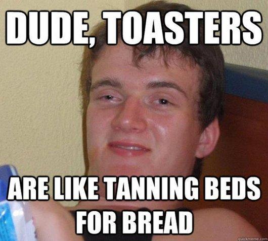"Toast. not oc. Iqf BEES flotti"" an alarm funny Toaster toast Stupid what hi"