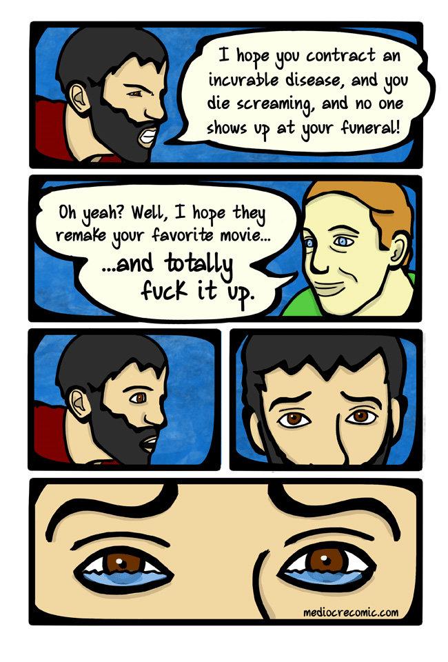 Too far.... .. fixed comic joke horrible thing t