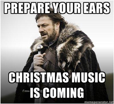 Too soon. .. But... I like Christmas music... Too soon But I like Christmas music