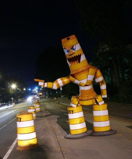 traffic cone man. ...cool. traffic cone man LOLWUT AHHHH