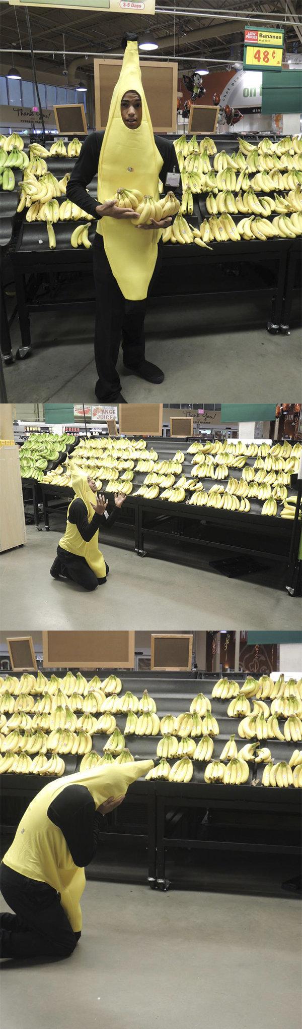 Tragic scene. . Banana tragic scene funny weird fruits