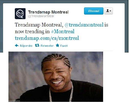 "Trendception. Just happened on twitter XD. T "" n as V El Ftrw El I Montreal, now trending in #153 antral com/ ea/ montreal Trendception Just happened on twitter XD T "" n as V El Ftrw I Montreal now trending in #153 antral com/ ea/ montreal"