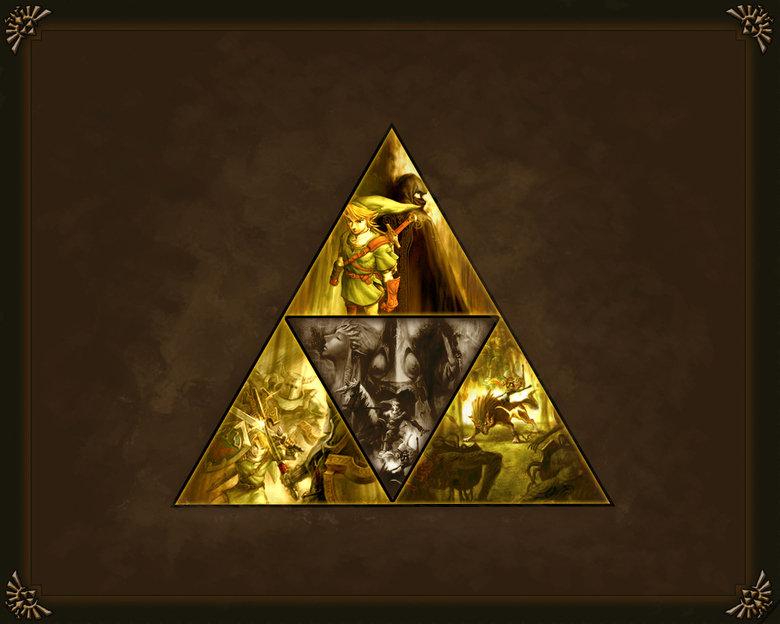 Triforce wallpaper. . Triforce wallpaper