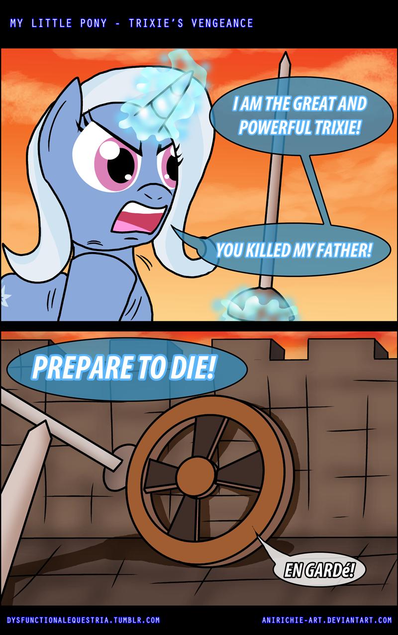 Trixie's Vegeance. anirichie-art.deviantart.com/art/MLP-.... LITTLE PONY - TRIXIE' S VENGEANCE littal) GA ! Cch ponies comic
