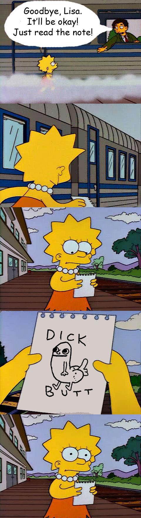 troll'd. Lisa got troll'd. Goodbye, Lisa. ll be okay! Just read the note!. theres a kid at my school called richard butt so we call him dick butt :D troll dickbut