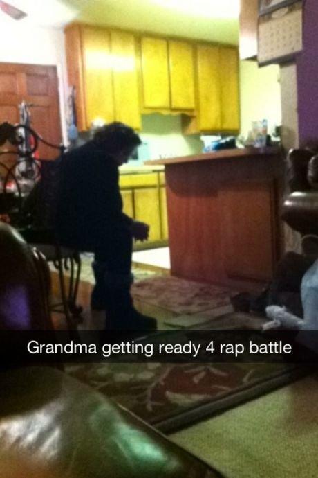 tru. . Grandma getting ready at rap battle. She's got vomit on her knit sweater already, daughter's spaghetti. tru Grandma getting ready at rap battle She's got vomit on her knit sweater already daughter's spaghetti