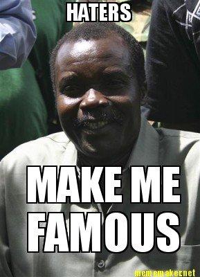 True on so many levels.... Kony is a thug. Kony thug africa LRA
