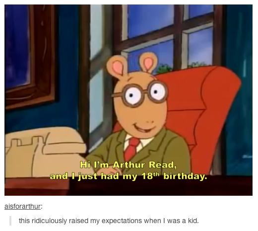turning 18. . Hi I' m Arthur , until just had my birthday. this & raised rm; (:i% g: when I was w kid. turning 18 Hi I' m Arthur until just had my birthday this & raised rm; (:i% g: when I was w kid