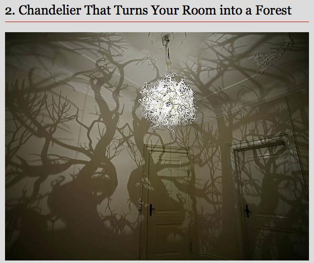 turns your room into a nightmare. www.theboredpanda.com. 2. Chandelier That Turns Yum Raum inn: El Farrett. This face watching you all night theboredpanda lookingforachand