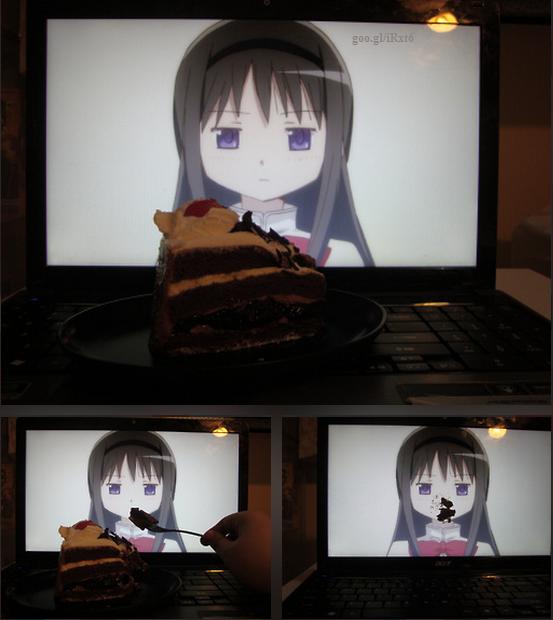 tv. homura akemi.. hfw he/she goes to bed character manga Anime