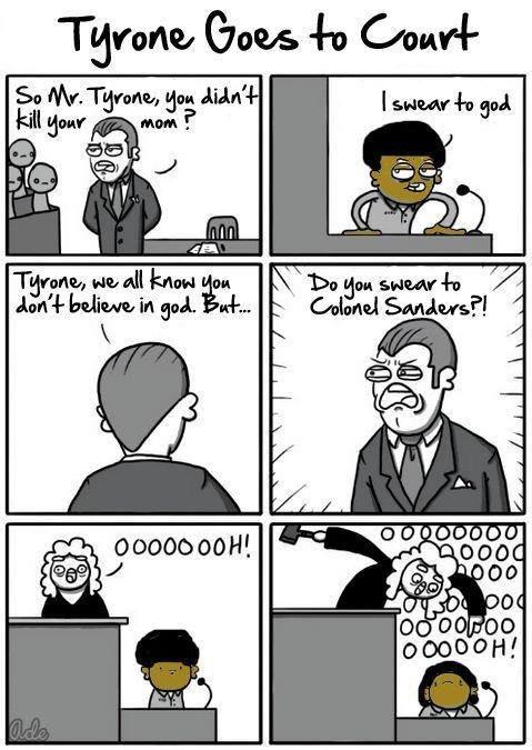 Tyrone Goes to Court. . Tyrone Goes to Court