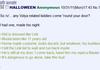 Halloween related